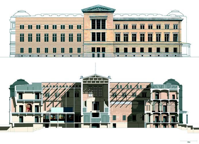 corte e fachada